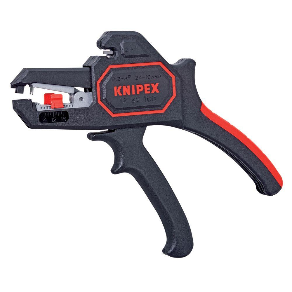 KNIPEX 7 in. Automatic Wire Stripper-12 62 180 - The Home Depot