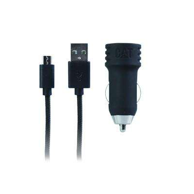 Universal Car Charger Compatible with any Micro USB Smartphone/Tablet in Black