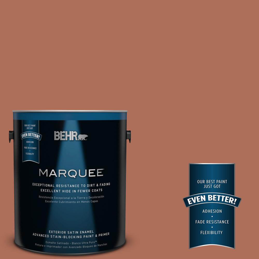 BEHR MARQUEE 1-gal. #BXC-39 Sunset Orange Satin Enamel Exterior Paint