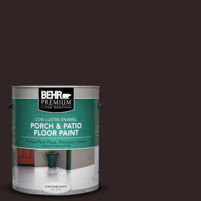 1 gal. #SC-104 Cordovan Brown Low-Lustre Porch and Patio Floor Paint