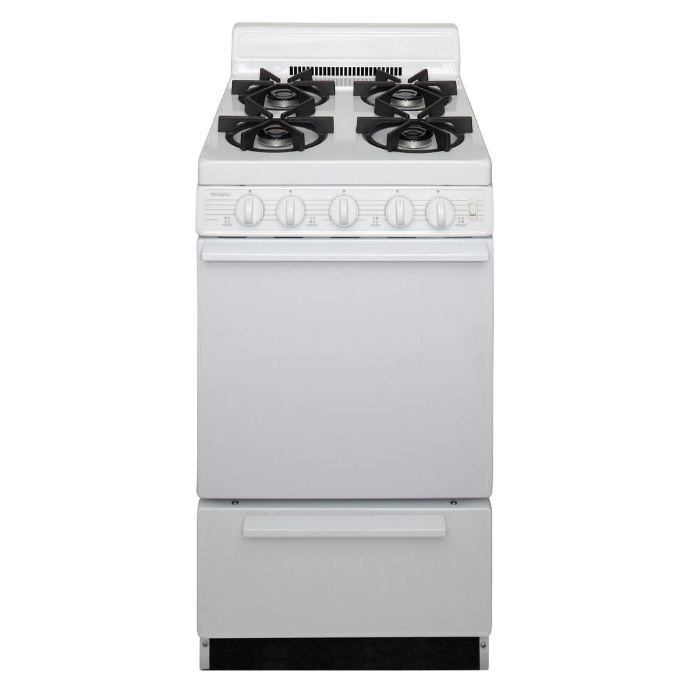 20 in. 2.42 cu. ft. Freestanding Gas Range with Sealed Burners