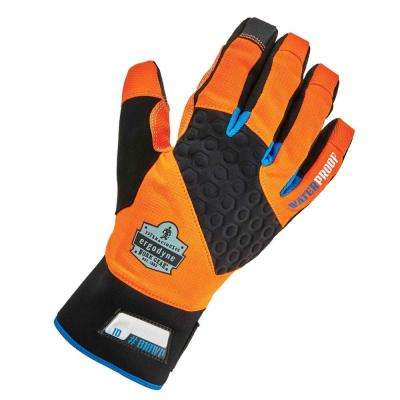ProFlex Small Orange Performance Thermal Waterproof Utility Gloves