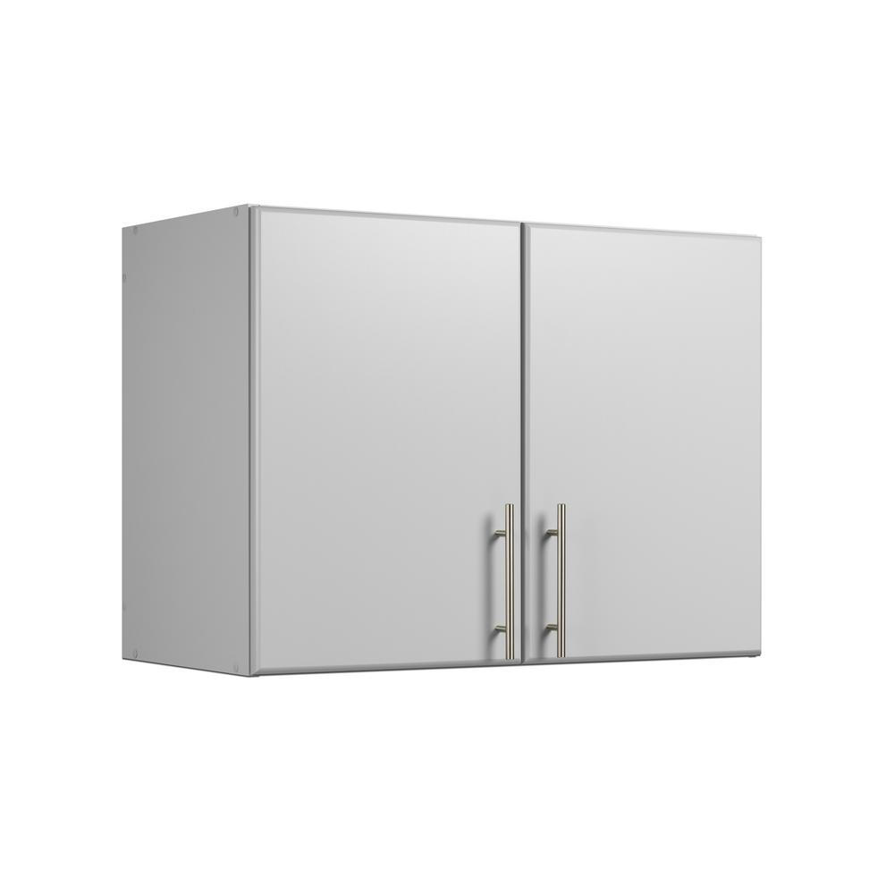 Elite Light Gray 32 in. Stackable Wall Cabinet