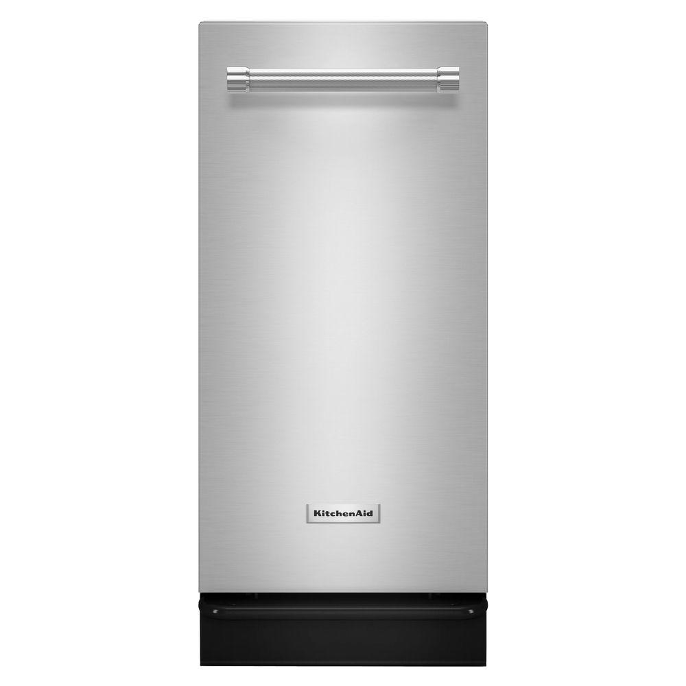 kitchenaid trash compactor. kitchenaid 15 in. built-in trash compactor in stainless steel-ktts505ess - the home depot kitchenaid