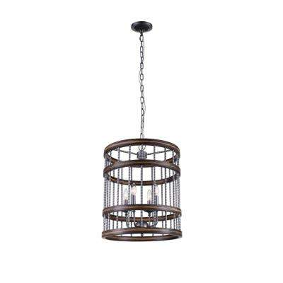Dene 4-Light Gun Metal Chandelier