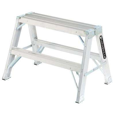 2 ft. Aluminum Step Ladder with 300 lb. Load Capacity Type IA Duty Rating