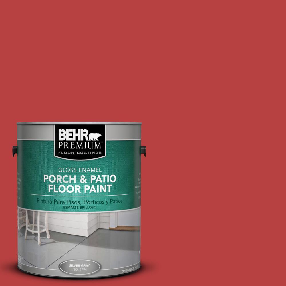 1 gal. #OSHA-5 OSHA SAFETY RED Gloss Porch and Patio Floor Paint