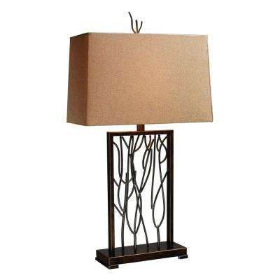 Belvior Park Aria 33 in. Bronze and Iron Table Lamp