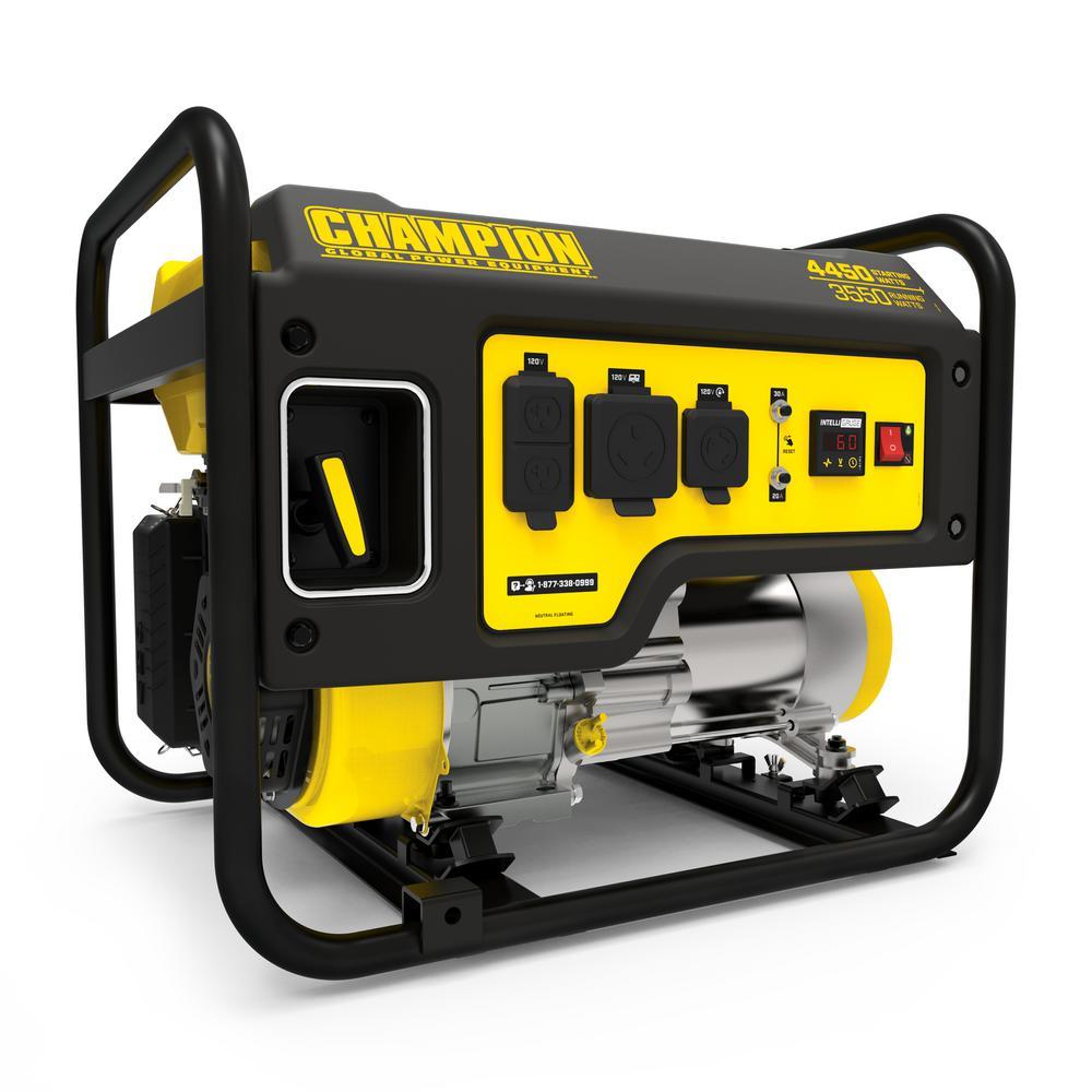 Champion Power Equipment 3550-Watt Gasoline Powered Recoil Start Portable Generator with Champion 224 cc 4-Stroke Engine