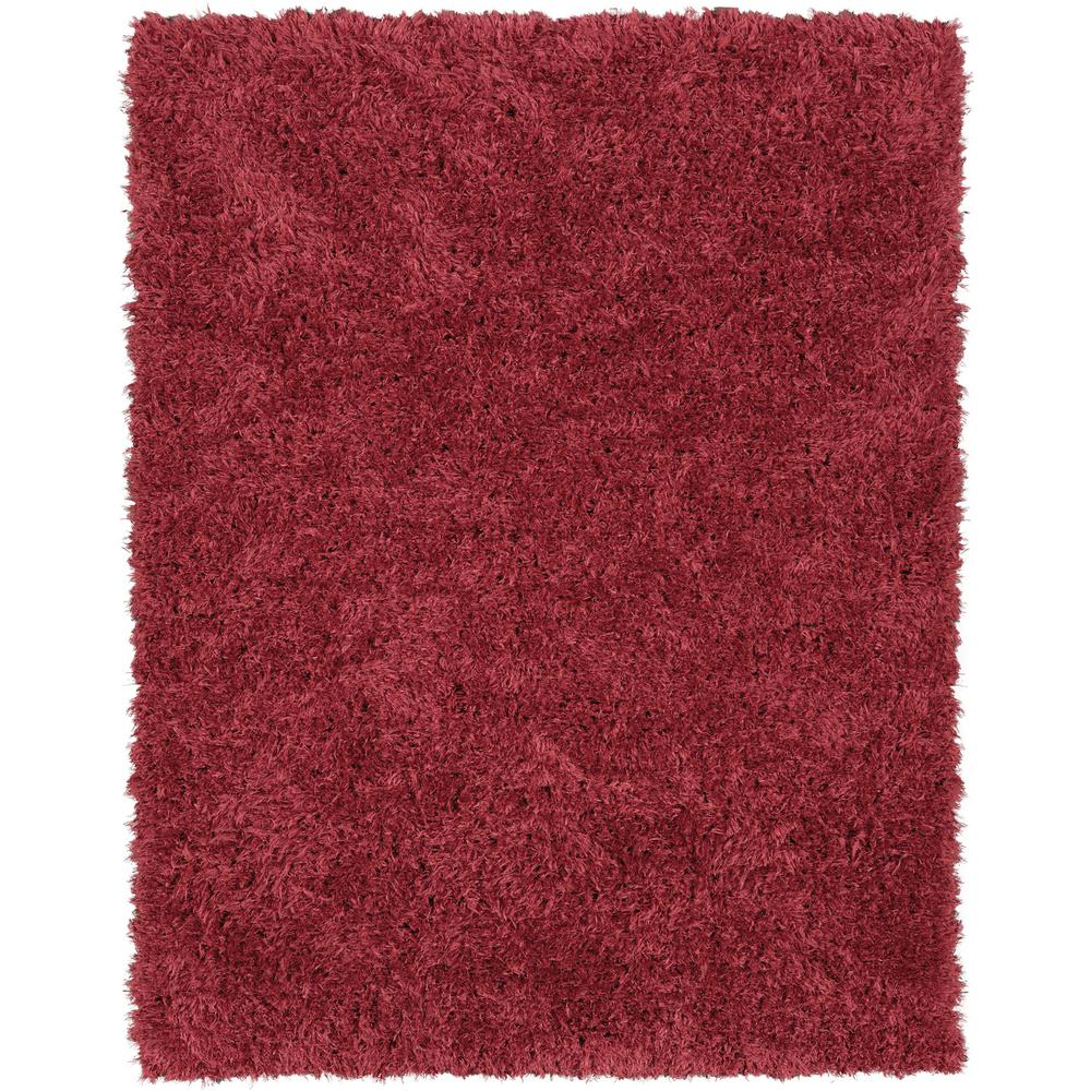 Ottomanson Pure Fuzzy Flokati Red 5 ft. x 7 ft. Faux Sheepskin Indoor Kids Area Rug