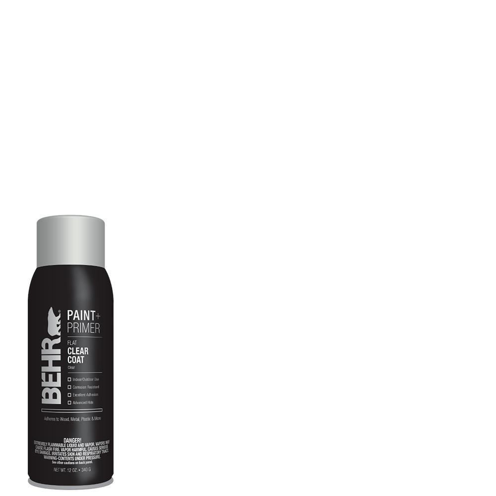 Behr 12 Oz Clear Flat Interior Exterior Spray Paint
