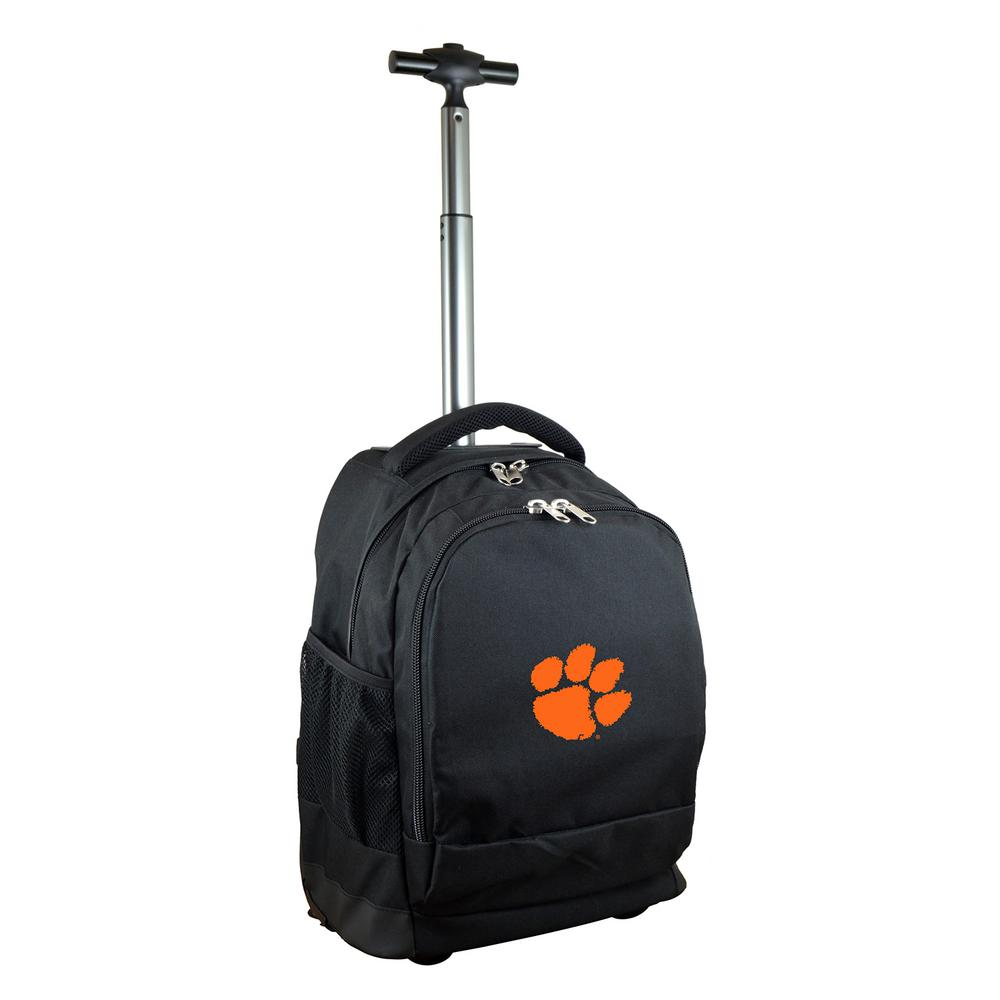 NCAA Clemson 19 in. Black Wheeled Premium Backpack