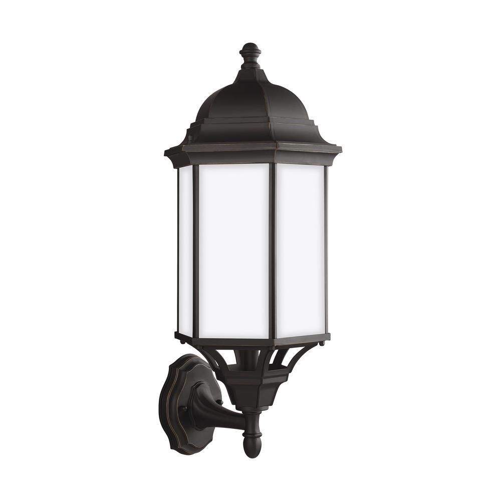 Sevier 1-Light Antique Bronze Outdoor Wall Lantern