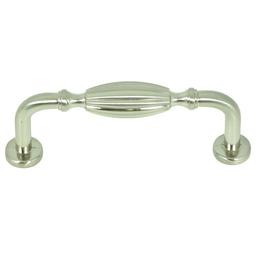 French Country 3 in. Satin Nickel Cabinet Pull (10-Pack)