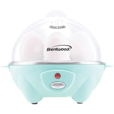 7-Egg Blue Electric Egg Cooker with Auto Shutoff