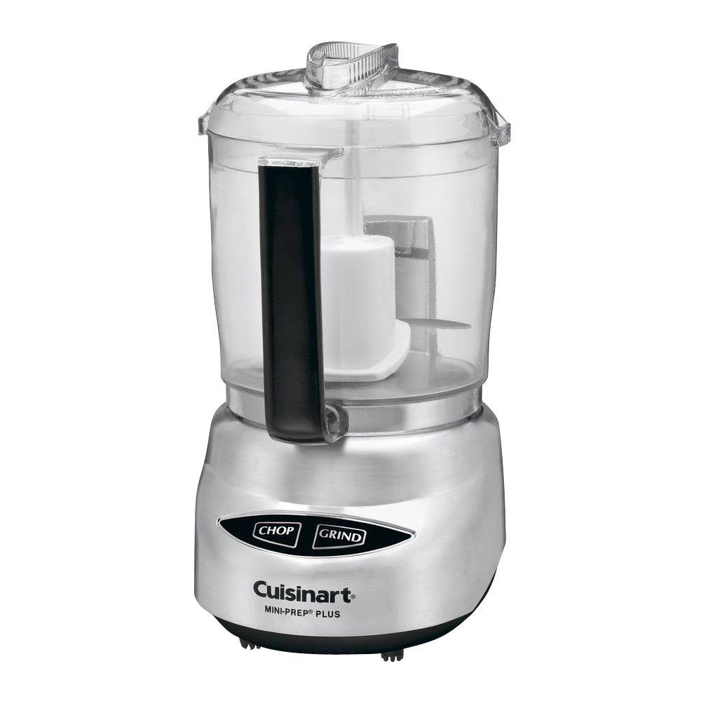 Mini-Prep Plus Food Processor, Silver Kitchen style. Finished with brushed metallic to add a touch of elegance. The Mini-Prep Plus 4-Cup Processor has a large 4-cup bowl to handle bigger tasks. A fashionable fit for any kitchen. Color: Stainless steel.