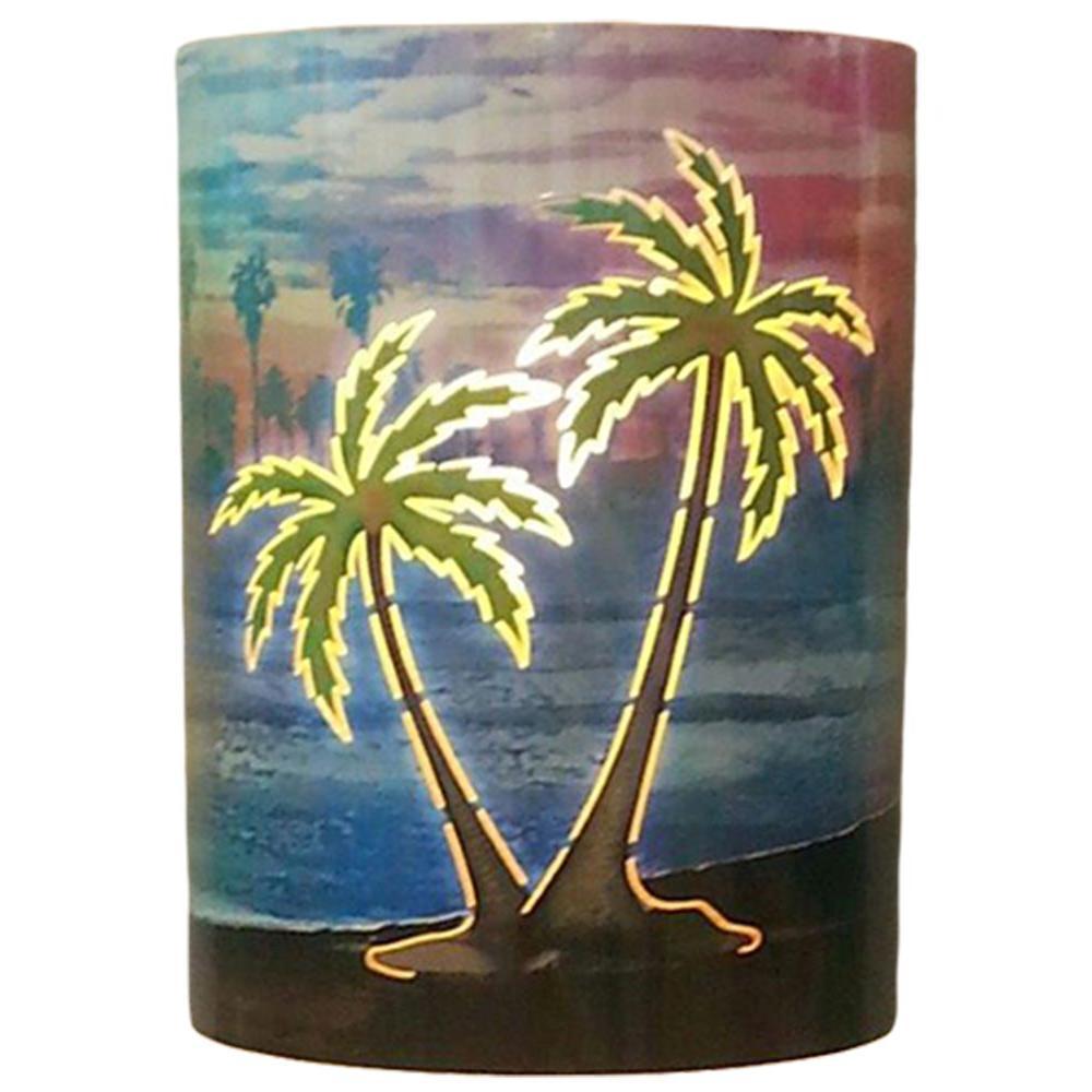 Filament Design Aspen 1 Light Outdoor Multicolored Palm Tree Wall Sconce