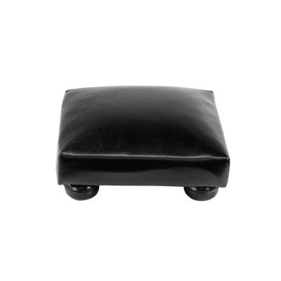 Tyler 5 in. Black Faux Leather Foot Stool (Set of 4)