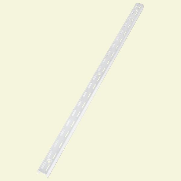 48 in. White Twin Track Upright for Wood or Wire Shelving