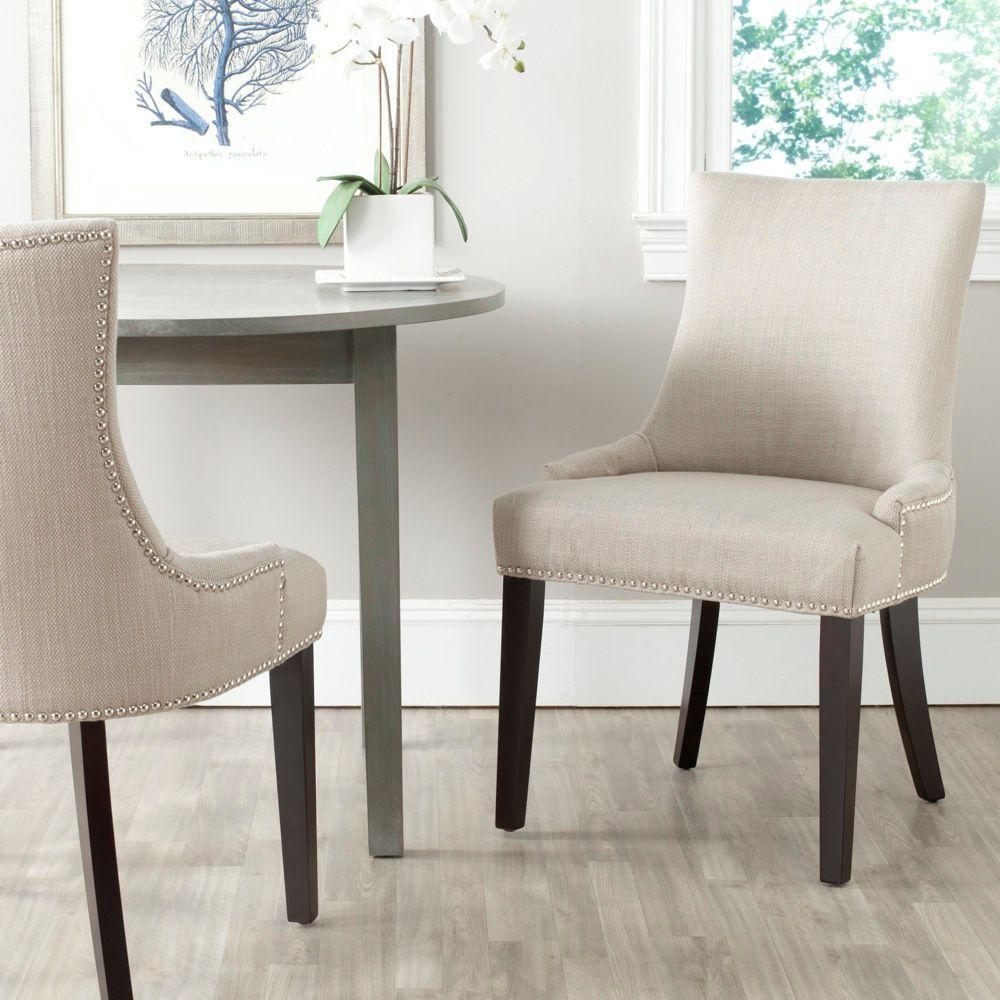 safavieh lester antique gold cotton blend dining chair set of 2 mcr4709ah set2 the home depot. Black Bedroom Furniture Sets. Home Design Ideas