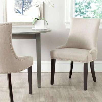 Lester Antique Gold Cotton Blend Dining Chair (Set of 2)