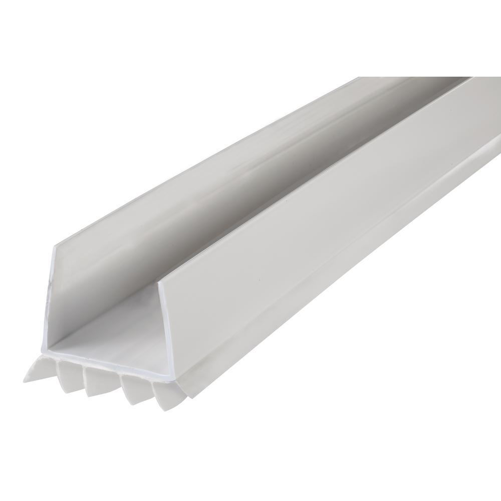 36 in. White Slide-On Under Door Seal