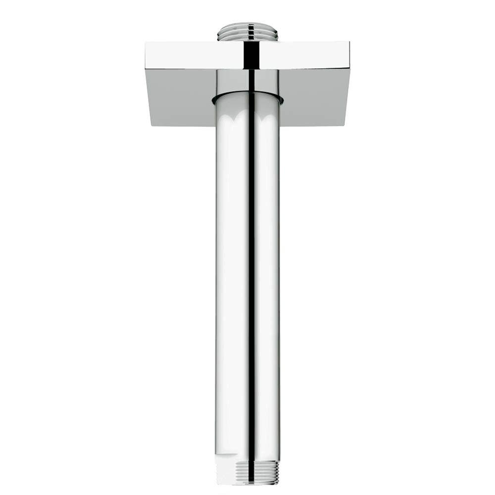 6 in. Ceiling Arm Square in StarLight Chrome