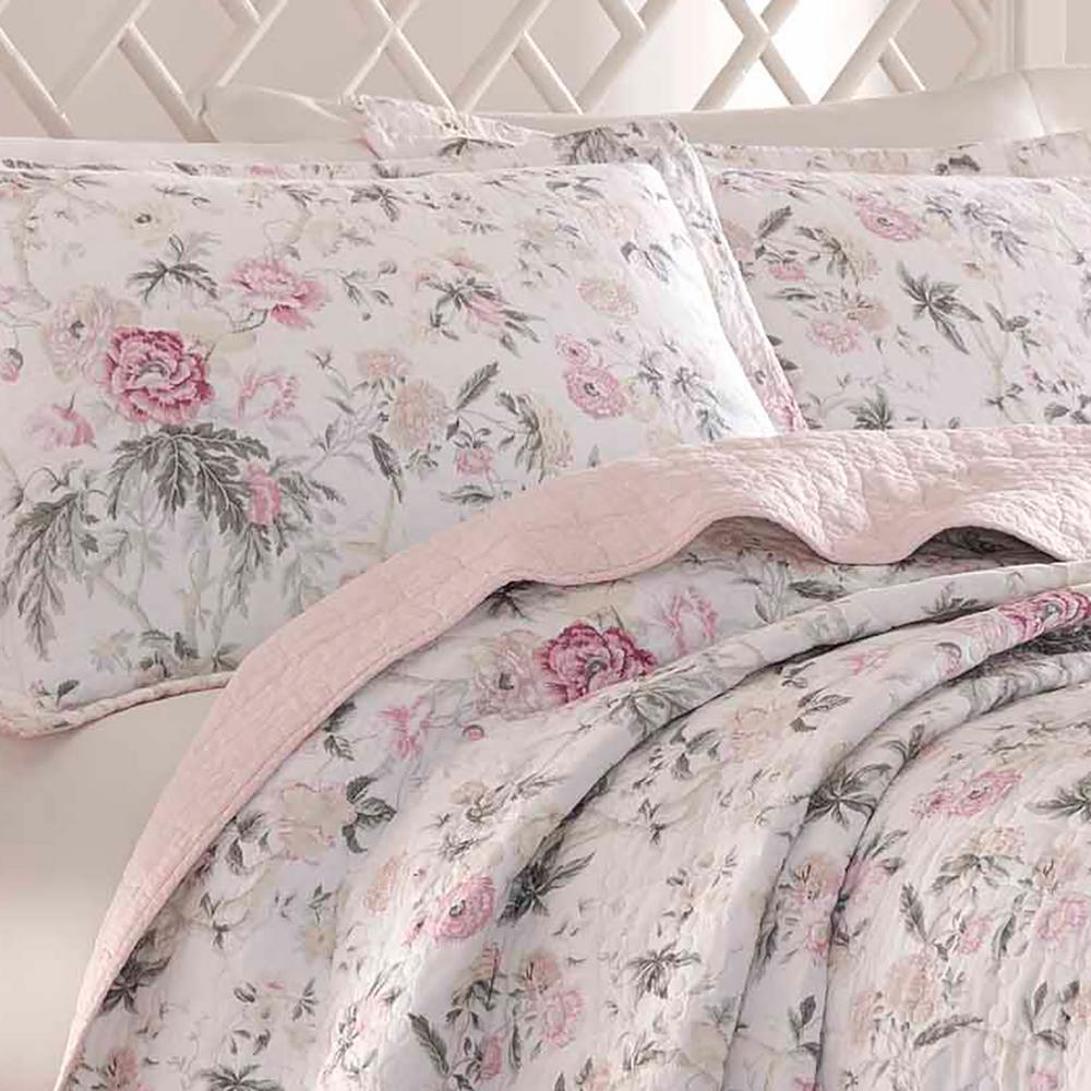Breezy Floral Cotton Quilt Set