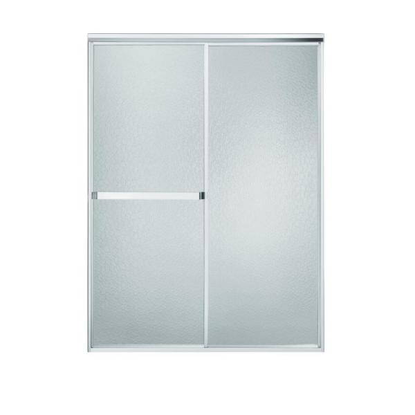Sterling Standard 52 In X 65 In Framed Sliding Shower Door In Silver With Handle 660b 52s The Home Depot