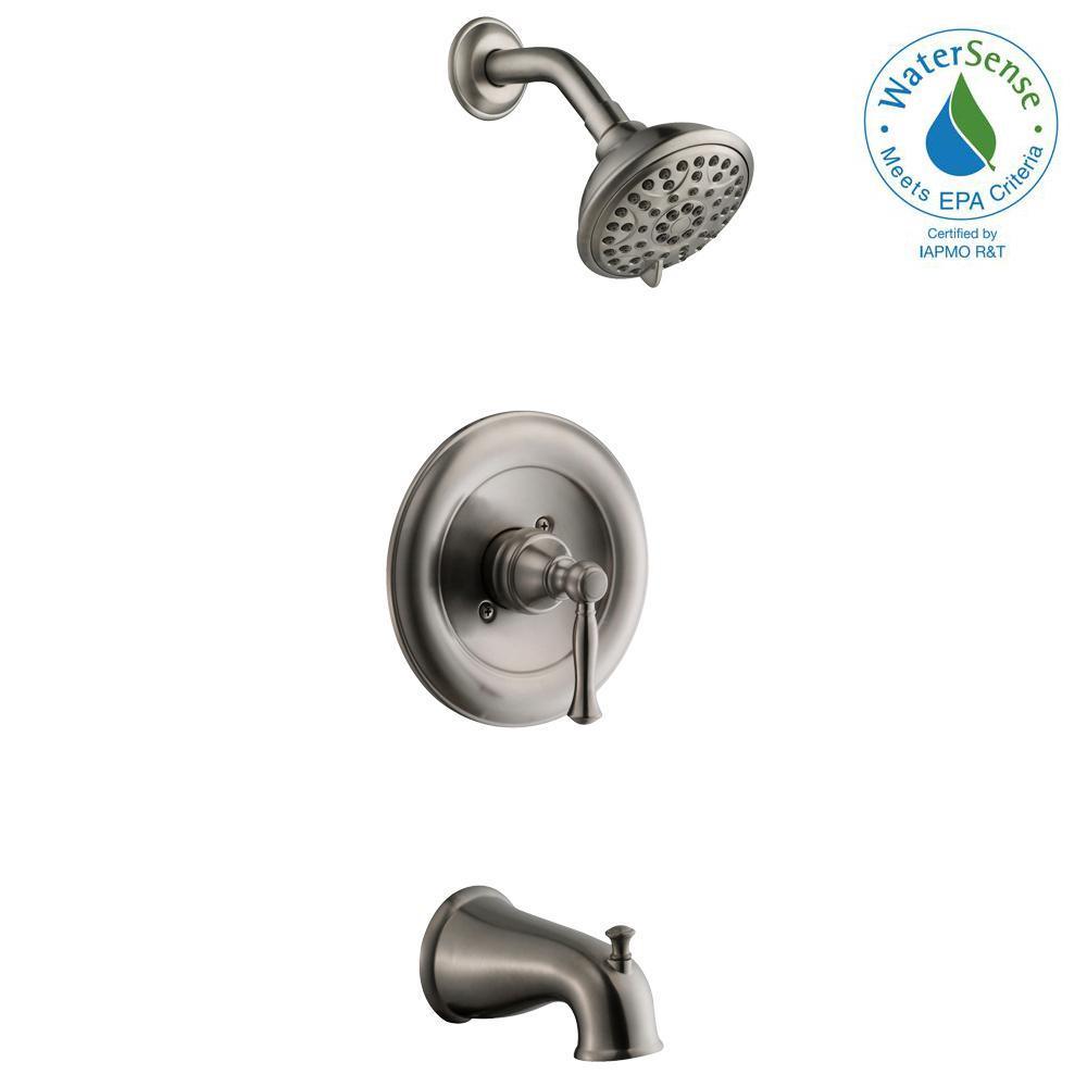 Glacier Bay Fairway Single-Handle 3-Spray Tub and Shower Faucet in ...