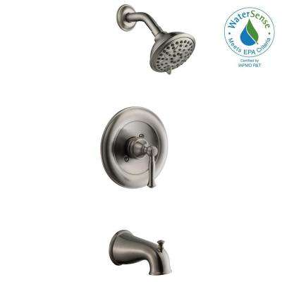 Fairway 1-Handle 3-Spray Tub and Shower Faucet in Brushed Nickel (Valve Included)