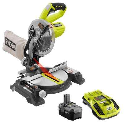 18-Volt ONE+ 7-1/4 in. Cordless Miter Saw Kit