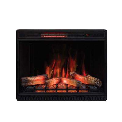 33 in. Ventless Infrared Electric Fireplace Insert with Safer Plug