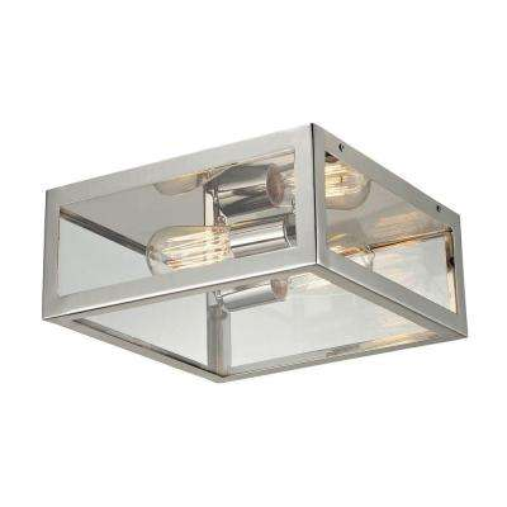 Parameters-Nickel 2-Light Deep Rust Semi-Flush Mount Light