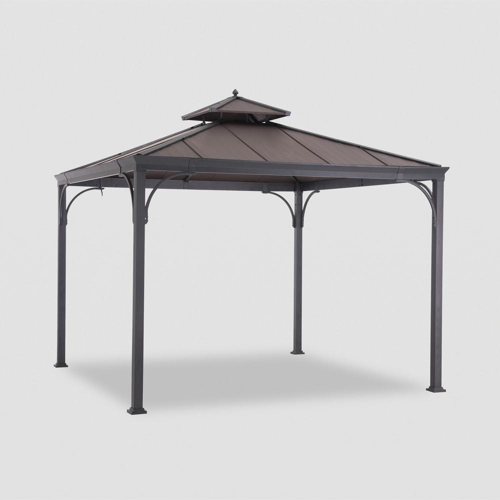 Haden 10 ft. x 10 ft. Copper Square Steel Hard Top Gazebo