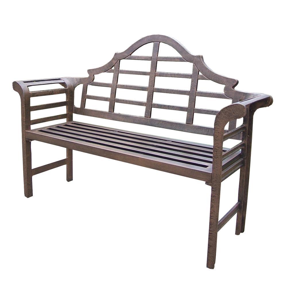 King Louis Cast Aluminum Bench