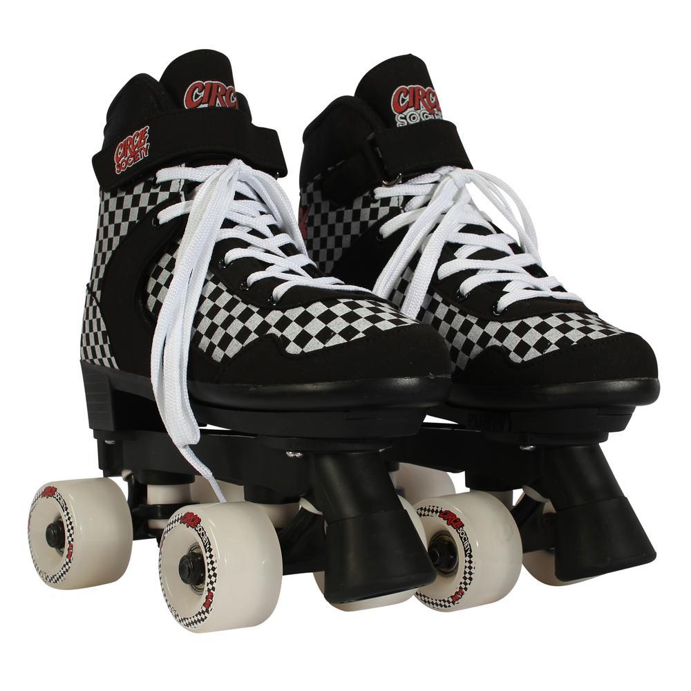 Unisex Size 3-7 Street Checkered Skates