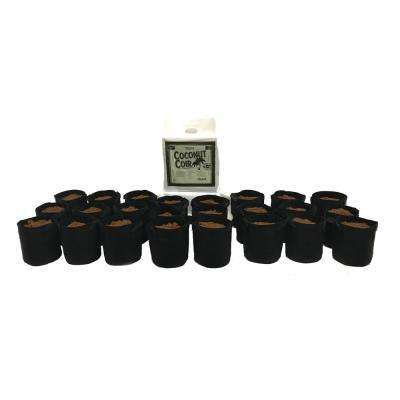 1 Gal. Fabric Pot with Coconut Coir Premium Growing Media (24-Pack)