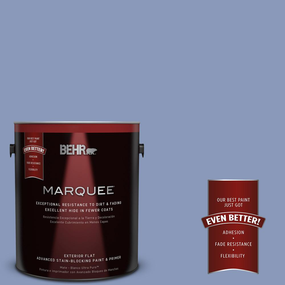 BEHR MARQUEE 1-gal. #610D-5 Blueberry Popover Flat Exterior Paint