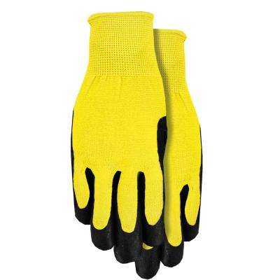 Yellow Men's Nitrile Coated Gloves