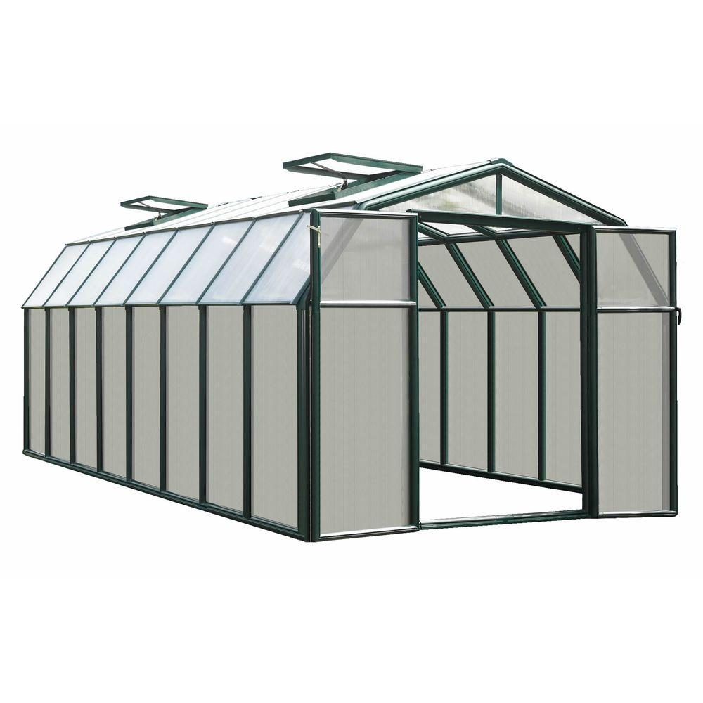 Rion Hobby 8 ft. 6 in. x 16 ft. 8 in. Premium Package Green Frame Greenhouse-DISCONTINUED