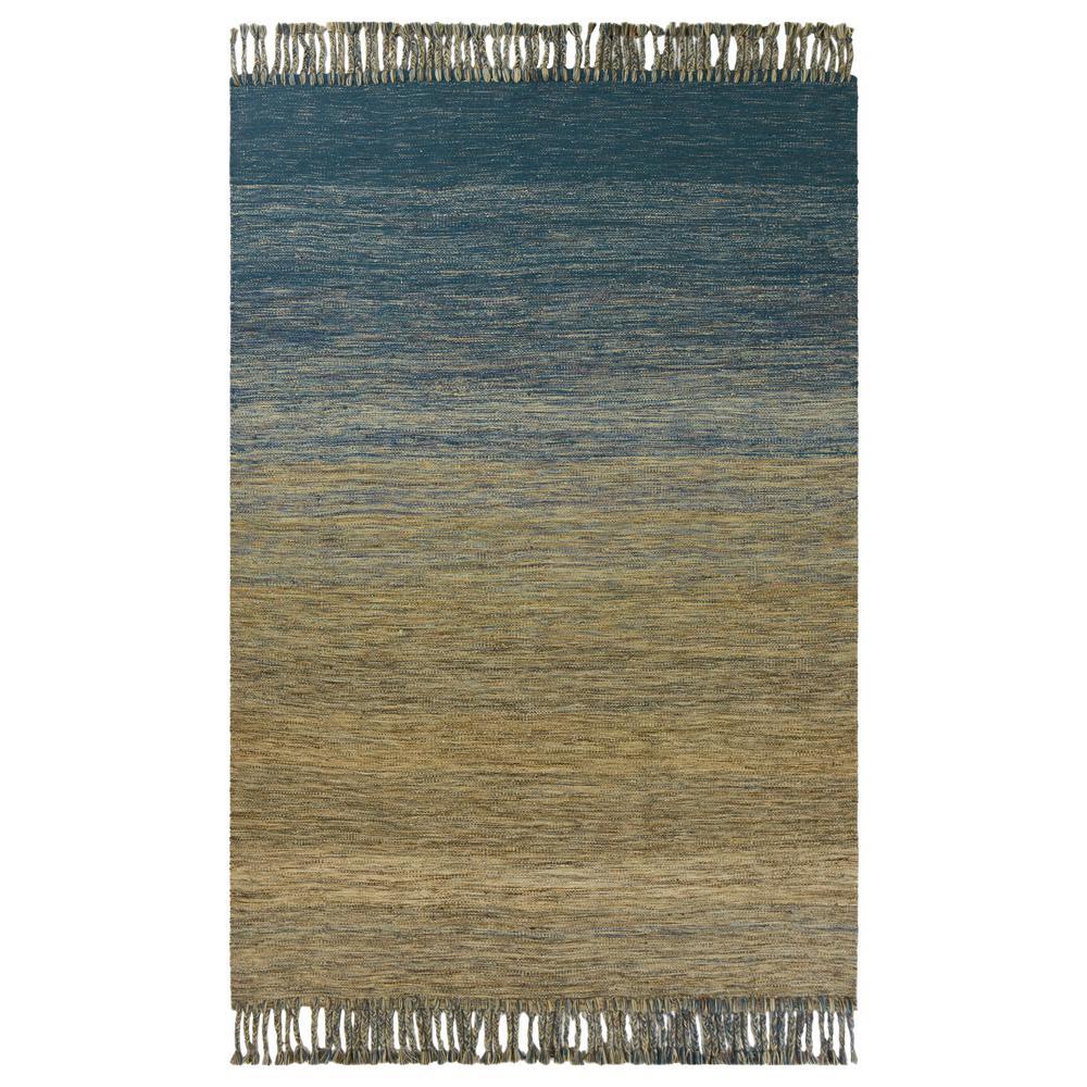 Homespun Ocean Landscape 9 ft. x 12 ft. Area Rug