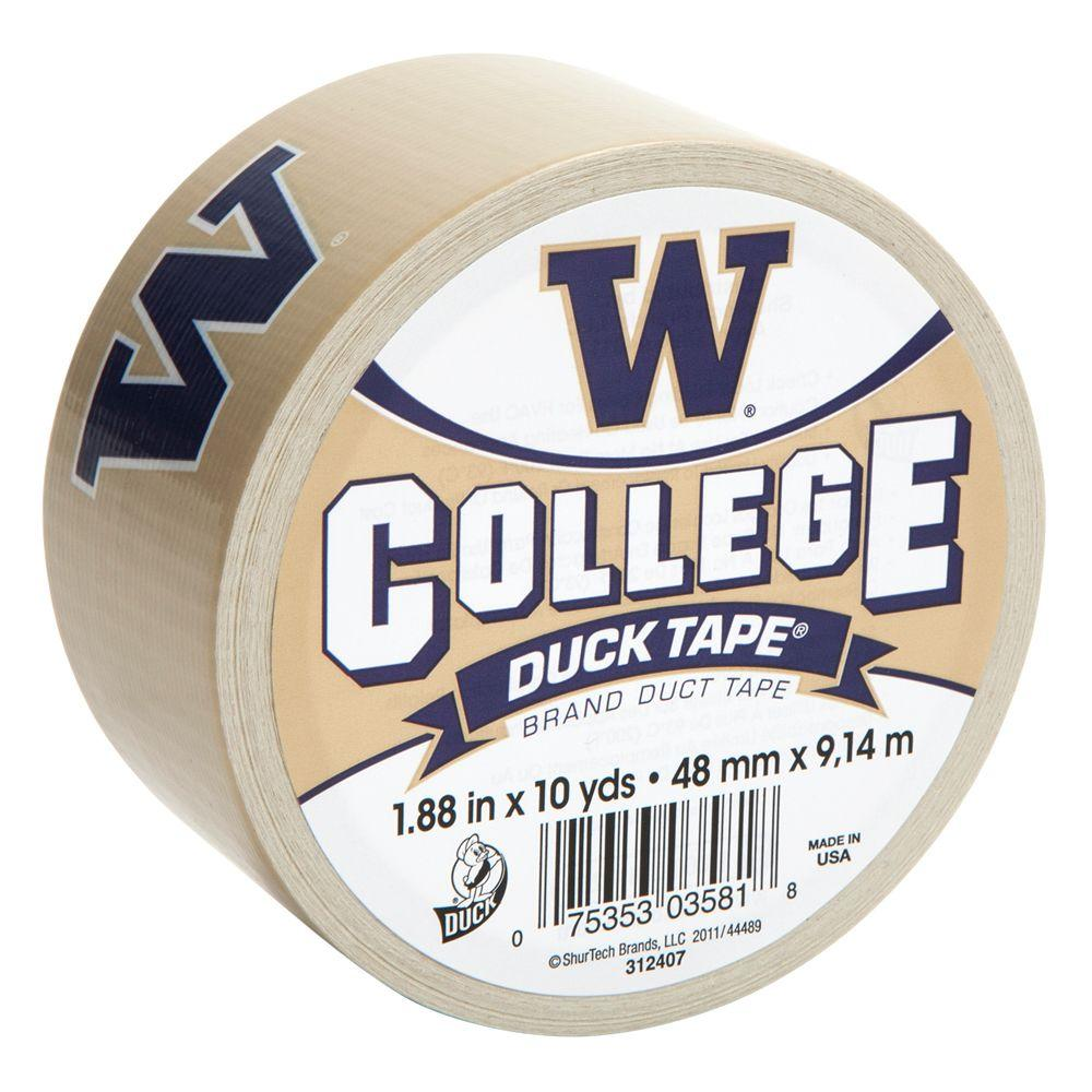 Duck College 1-7/8 in. x 30 ft. University of Washington Duct Tape (6-Pack)