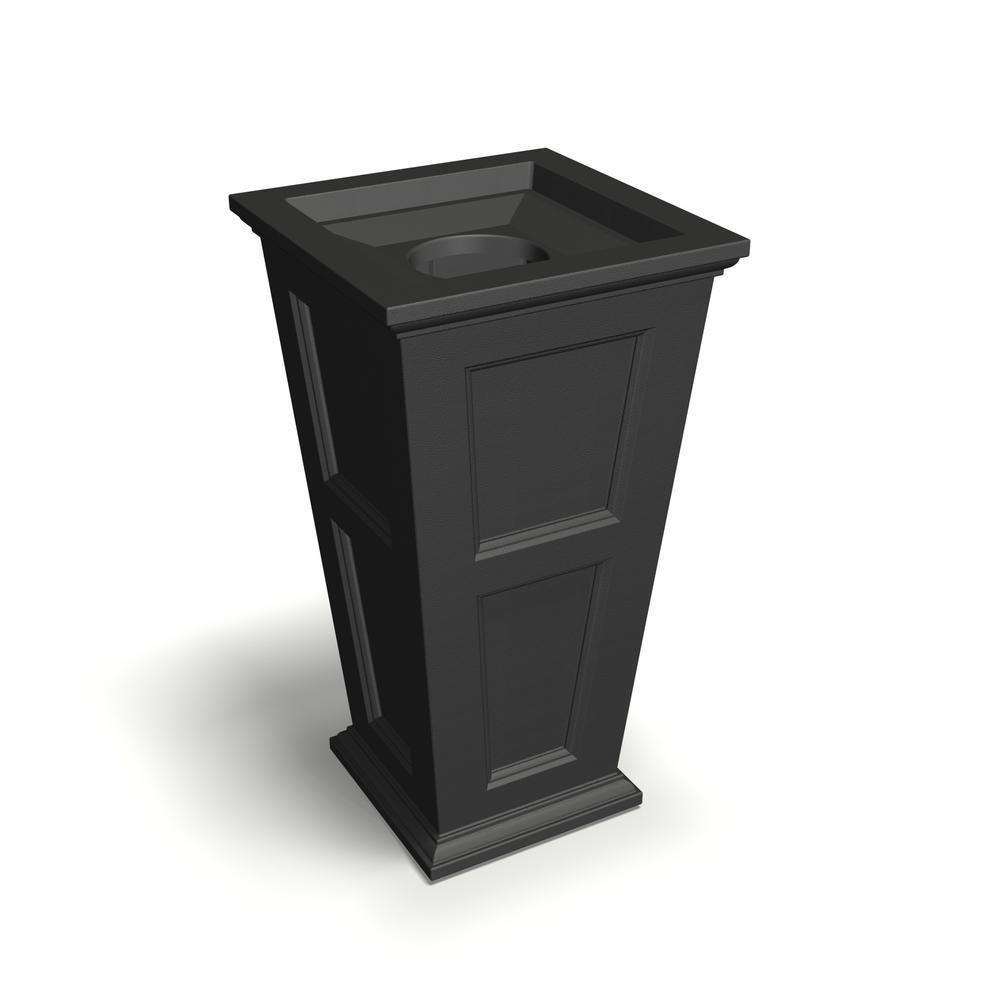 Fairfield 40 in. Tall 24 Gal. Black Waste Bin