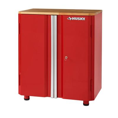 28 in. W x 33 in. H x 18 in. D 2-Door Steel Garage Base Cabinet in Red