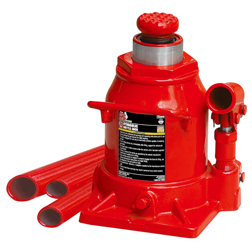 Big Red 20 Ton Low Profile Bottle Jack T92007a The Home Depot