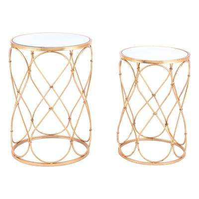 Twist Gold End Tables