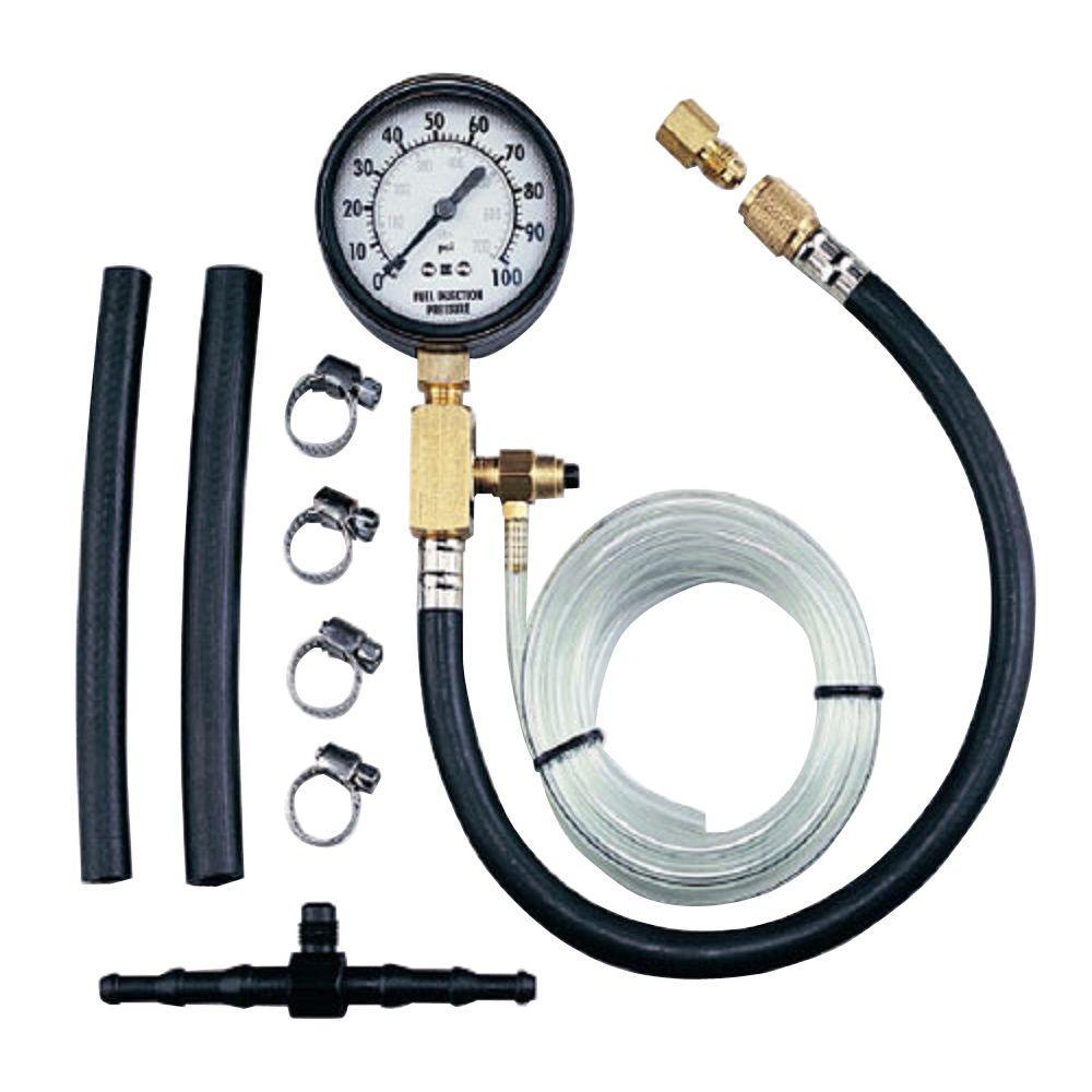 Steel Core Gas Engine Cylinder Compression Tester Kit (8-Piece