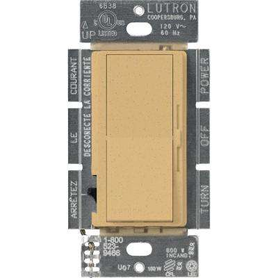 Diva C.L Dimmer for Dimmable LED, Halogen and Incandescent Bulbs, Single-Pole or 3-Way, Goldstone