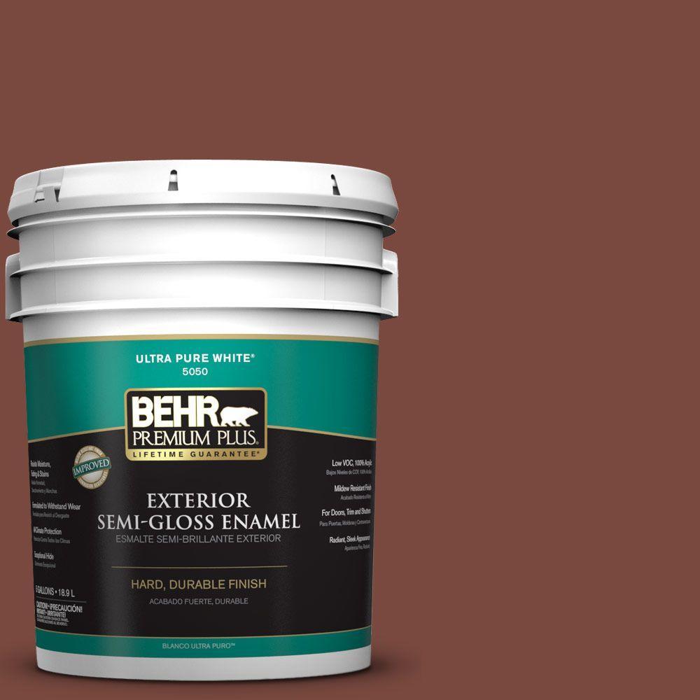 5-gal. #S150-7 Fire Roasted Semi-Gloss Enamel Exterior Paint